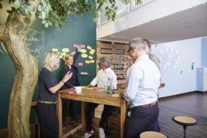 Workshopraum zur Miete Creative Space Kreativraum New Work Lab Duesseldorf Design Thinking Seminarraum Innovation Space