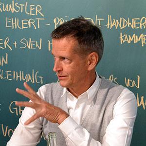 Josef Hinkel, Bäcker des Jahres bei der Eröffnung des New Work Lab Düsseldorf, Workshopraum, Creative Space
