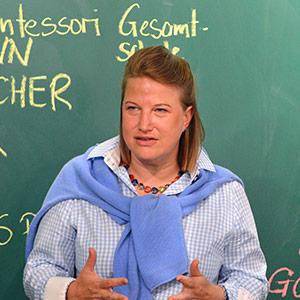 Nina Thea Ungermann, Geschäftsführerin Hausbrauerei Schumacher bei der Eröffnung des New Work Lab Düsseldorf, Workshopraum, Creative Space