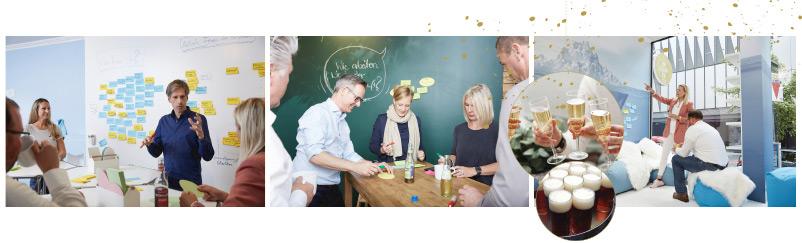 Weihnachtsfeier Neujahrsfeier New Work Lab Düsseldorf Workshopraum Seminarraum Workshop Essen Teamwork Team